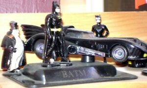 Assorted Batman toys and collectibles
