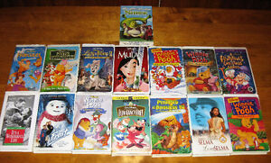 15 Classic Walt Disney Collectible VHS Movies Lot F/S