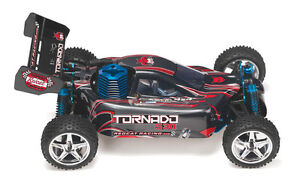 Redcat Racing Tornado S30 R.C. 1/10 scale nitro buggy-w-2.4 ghz(-Black/Red)