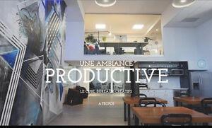Le Cube, superbes bureaux  en coworking flexibles et inspirants