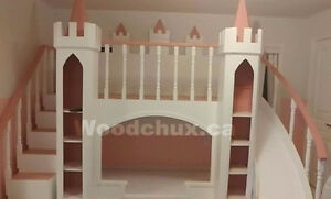 PRINCESS  CASTLE  Bunk Bed / Loft bed & Play House