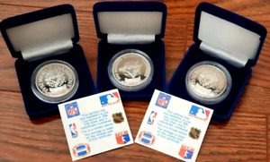 x3 1992 Blue Jays World Championship Limited Ed. Silver Coins