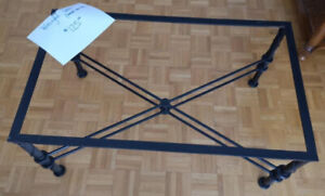 Beautiful WROUGHT IRON Coffee Table (needs top)