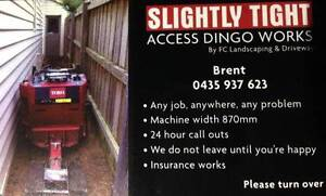 SLIGHTLY TIGHT ACCESS DINGO WORKS  ANY DINGO JOB YOU CAN THINK OF Lilydale Yarra Ranges Preview