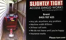 SLIGHTLY TIGHT ACCESS DINGO WORKS ( Dingo landscaping services ) Wandin North Yarra Ranges Preview