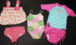 Toddler girl bathing swim suits swimwear size 2-3