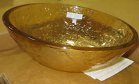 "New Oceana 17"" glass vesell sink Champagne Gold"