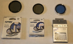 Set of 3 Camera Lens Filters - Good Condition