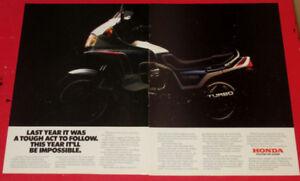 1983 HONDA CX650 TURBO VINTAGE MOTORCYCLE BIKE AD - ANONCE
