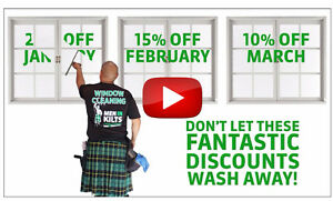 Men In Kilts - Window cleaning