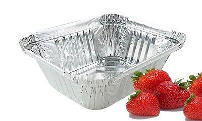 1 Lb. Oblong Aluminum Foil Take-out Pan 50 Pack - Disposable 1 Foil Containers