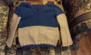 Baby sweater and a kid sweater