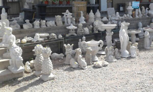 Benches,Birdbaths,Buddhas,Angels, Concrete Statues,in Fonthill