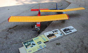 2 RC Planes Eagle 2 Red Blue 1 O.S. LA46 Engine AS IS Goderich