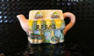 Miniature Red Rose Teapot - Rosa's Flower Shop