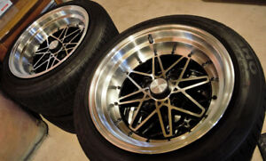 Phatfux 15x8 4x100 Wheels w/ Kumho Tires
