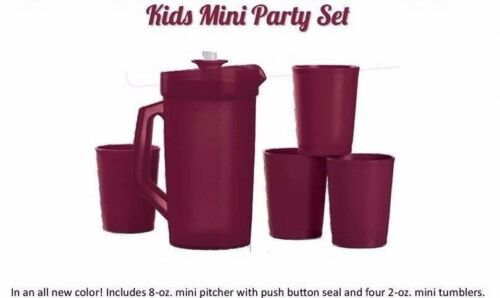 Tupperware Mini Party Set Pretend Play Starlight Sparkle Safe Toys Merlot New