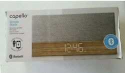 Capello Ci320 Bluetooth Speaker with Clock - Wood- FM Radio- USB Phone Charger