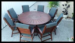 """OUTDOOR FURNITURE SALE! -""""Nullabor"""" 9x PCE Kwila dining setting Arana Hills Brisbane North West Preview"""