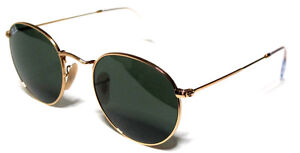 f48beb9fcfe62 Ray Ban RB3447 001 50-21 Green G-15 Lens Gold Metal Frame Round for ...