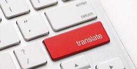 TRANSLATOR - ENGLISH/ARABIC - Available
