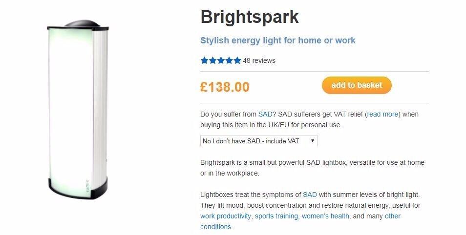 LUMIE BRIGHT SPARK SAD LAMP