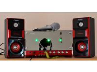 Fab Retro Hi-Fi Music Stereo / Karaoke Machine / Sound System