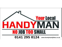 Handyman West End Glasgow -No job too small 0141 295 0124 /Plumbing/Electrical/Flat pack/painting