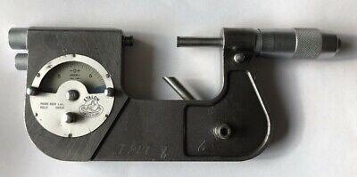 Tested Etalon 1-2 Inch Dial Indicating Outside Micrometer Model 72.109843