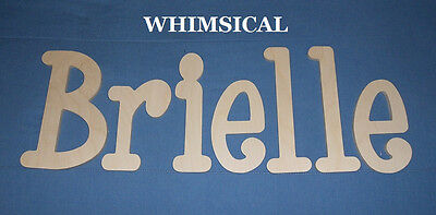 """Wooden Wall Letters 6"""" Size Unpainted Wood Name Nursery Room Decor Whimsical"""