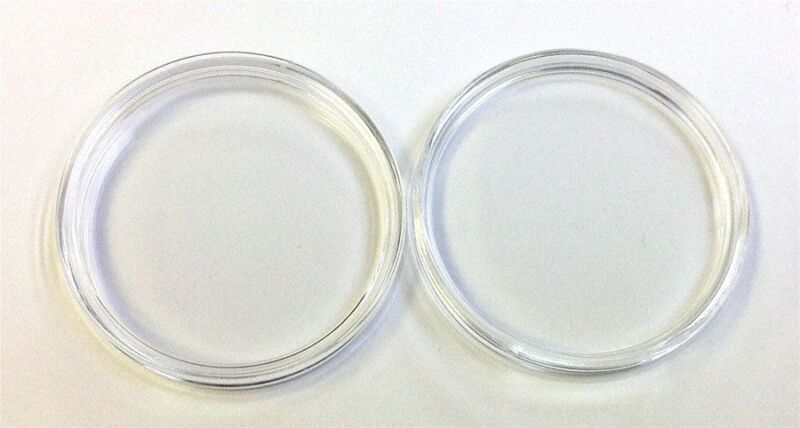 NEW Set (2) 39 mm Air Tite Casino Poker Chip Acrylic Holders 2 Air Tites NEW *