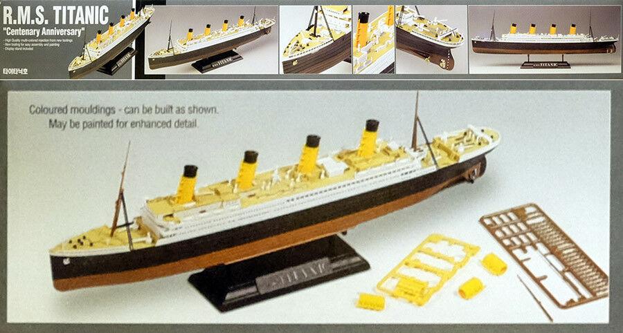 R.M.S Titanic Schiff Ocean Liner MCP gefärbt 1:400 Model Kit Academy 14215