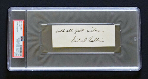 *PSA/DNA* MICHAEL COLLINS SIGNED Autograph Encapsulated - NASA Apollo 11 Moon!