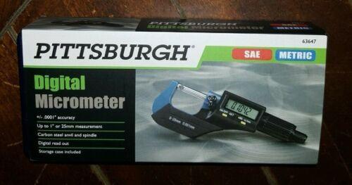 Digital Micrometer with Case -Metric & SAE- Item #63647