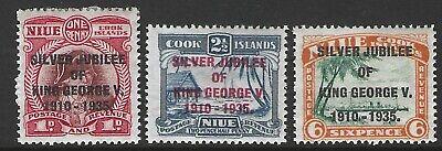 NIUE :1935 Silver Jubilee set SG69-71 MNH