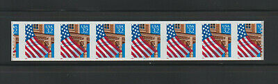 US EFO, ERROR Stamps: #2915A Flag Porch. Die cut shift PS7, #78777 PNC MNH