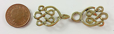Medieval brass Celtic cloak clasp Reenactment LARP theatre, living history 002