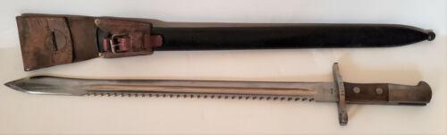 Swiss 1911 Pioneer Sawback Bayonet w/ Scabbard