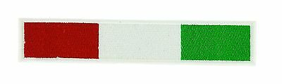 Italian Flag Patches (ITALY ITALIAN BIKER RACING FLAG PATCH Patches backpack BADGE IRON EMBROIDERED)