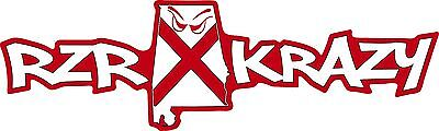RZR Krazy Special Edition AL Decal, 12 Inch Long