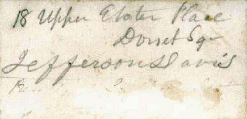 Jefferson Davis Signed Autographed 2x3 Album Page Beckett BAS