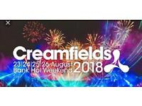 2 Gold 4 day Creamfields ticket