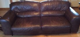 Large Brown Leather Couch