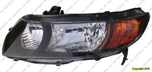 Headlight Driver Side Coupe Black Housing High Quality Honda Civic 2006-2008