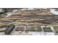 Large quantity of reclaimed decking timber planks wood
