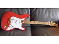 Fender MIJ Squier Hank Marvin Signature vintage JAPAN '92 with gold hardware & USA Pickups, Cased