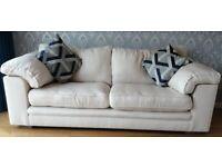 3 Seater & 2 Seater cream sofas