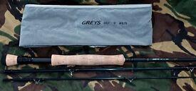 Pike/Bass Fly Fishing Rod Greys GRX 9ft #8/9 3 Piece