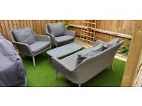 Patio 4 seater rattan furniture/sofa set inc table