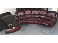 £1800 DFS Red leather corner RECLINER sofa WE DELIVER UK